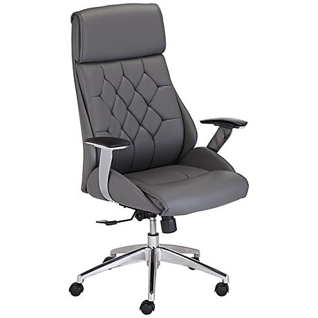 Samantha Adjustable Gray Office Chair
