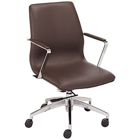 Bernard Espresso Low-Back Office Chair