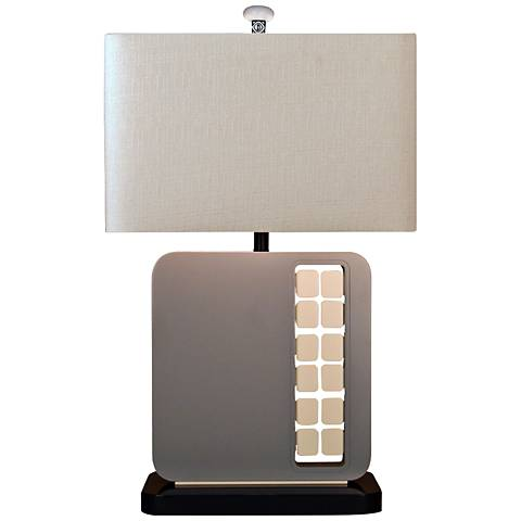 Industrialist Gray Contemporary Table Lamp