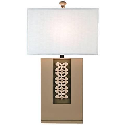 Modern Art Gray Large Table Lamp
