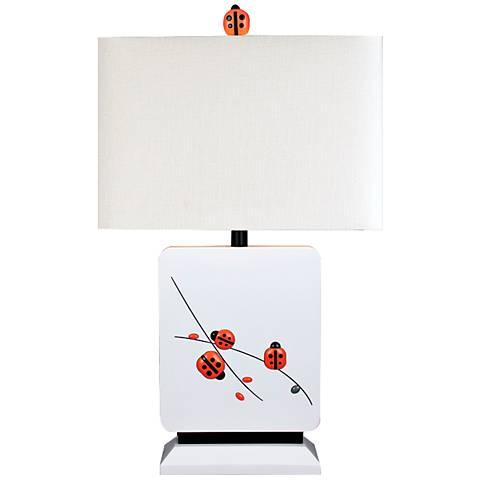 A Child's Garden Ladybug White Table Lamp