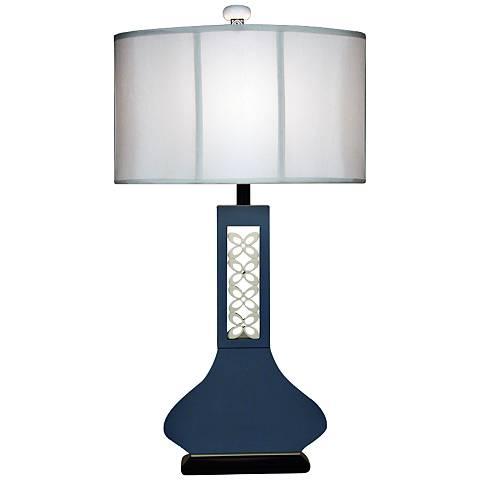 Hookah Blue Large Table Lamp