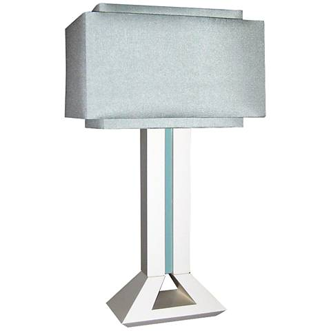Modern Times Off-White and Blue Table Lamp