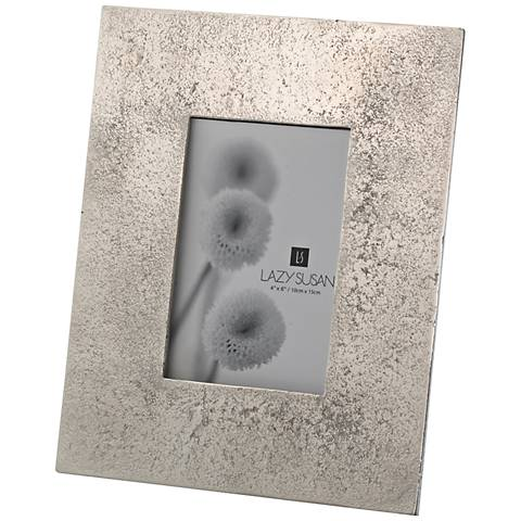 Silver Cement 4x6 Photo Frame
