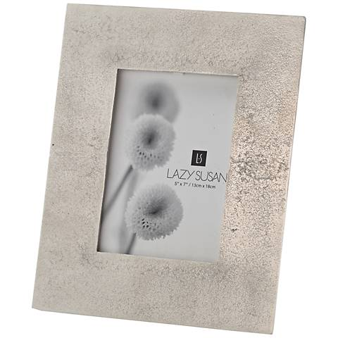 Silver Cement 5x7 Photo Frame
