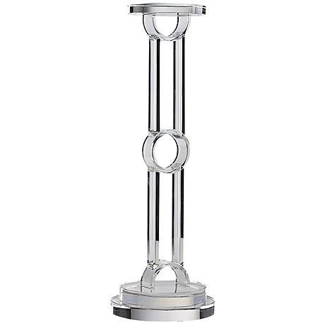Astra Crystal Circle Small Pillar Candle Holder