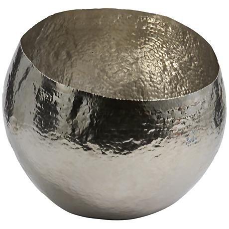 Xylo Hammered Nickel-Plated Small Brass Dish