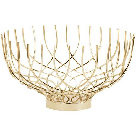 Spun Gold Vortex Open Weave Dish