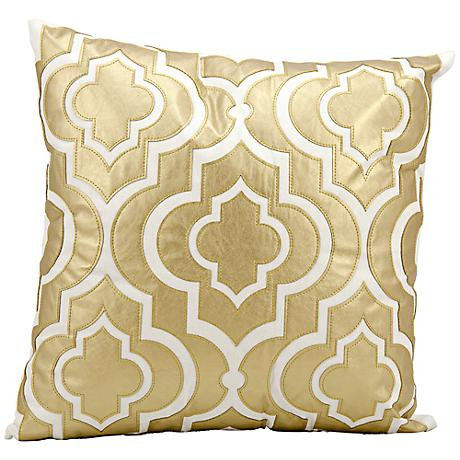 "Mina Victory Luminescence Gold 20"" Square Pillow"
