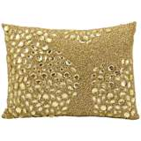 "Mina Victory Luminescence Light Gold 14"" x 10"" Pillow"