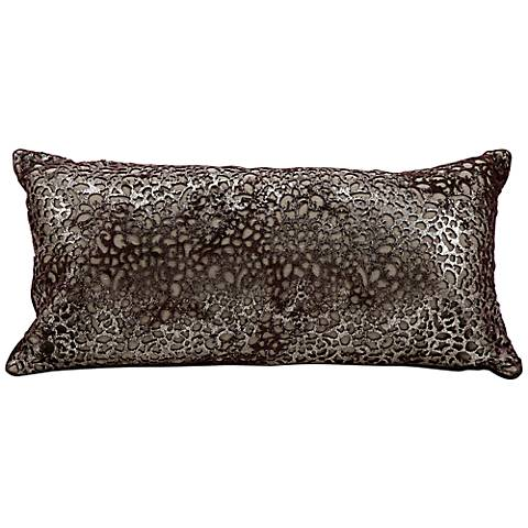 "Mina Victory Platinum Laser Cut Scales 20"" x 10"" Pillow"