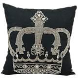 "Mina Victory Luminescence Jeweled Crown 16"" Square Pillow"