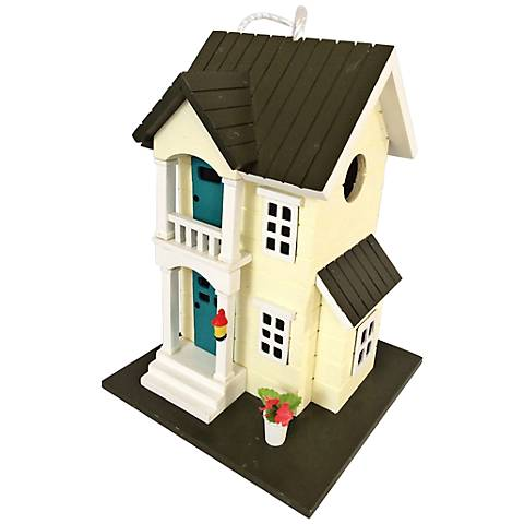 Main Street Townhome Yellow Cottage Birdhouse