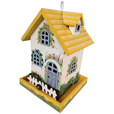 Flower Cottage Bold Yellow Birdfeeder