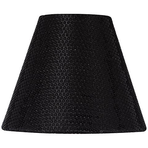 Black Sequin Hardback Lamp Shade 3x6x5 (Clip-On)