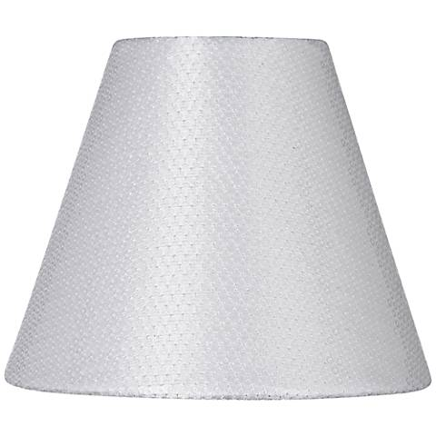 White Sequin Hardback Lamp Shade 3x6x5 (Clip-On)