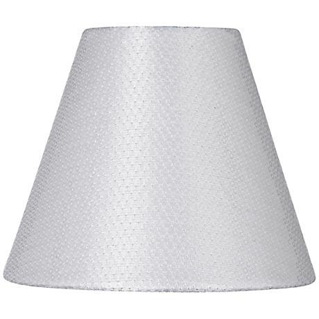 White Sequin Hardback Lamp Shade 3x6x5 (Clip-On)