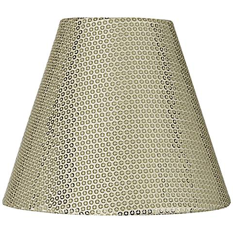 Gold Sequin Hardback Lamp Shade 3x6x5 (Clip-On)