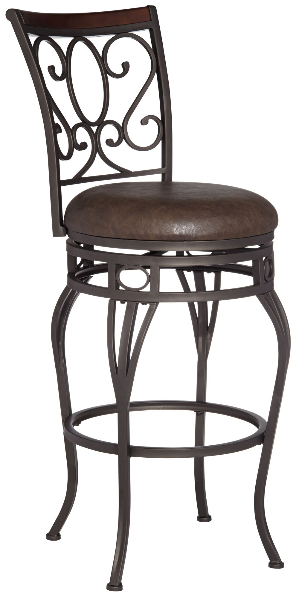 Trevi Wood and Bronze Metal 26  Swivel Counter Stool  sc 1 st  L&s Plus & Transitional Barstools Seating | Lamps Plus islam-shia.org