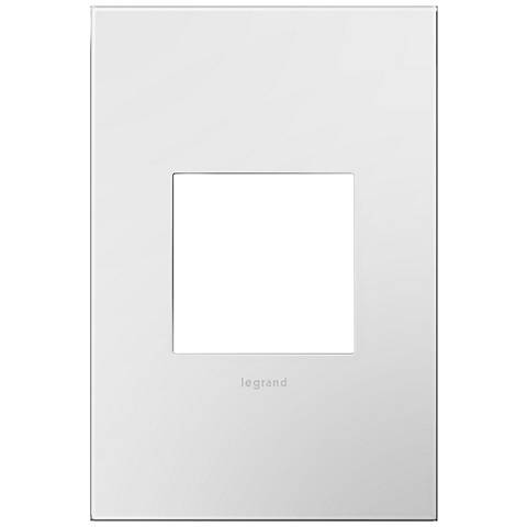 adorne Gloss White-on-White w/ White Back 1-Gang Wall Plate