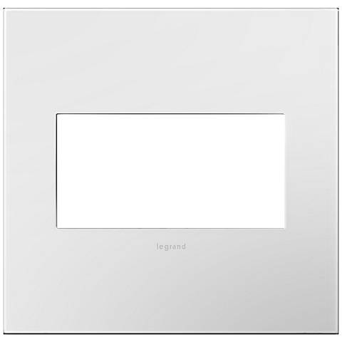 adorne Gloss White-on-White w/ White Back 2-Gang Wall Plate
