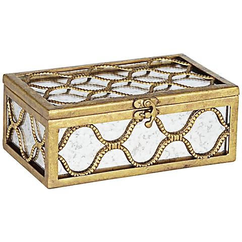 Renoir Mirrored Decorative Gold Box