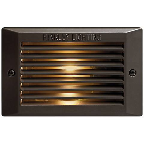 Hinkley Rectangular Bronze Outdoor LED Step Light