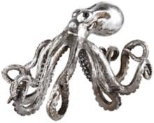 "Brushed Nickel Octopus 14"" Wide Sculpture"