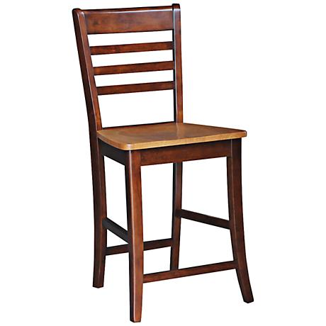 "Roma 24"" Espresso and Cherry Armless Counter Stool"