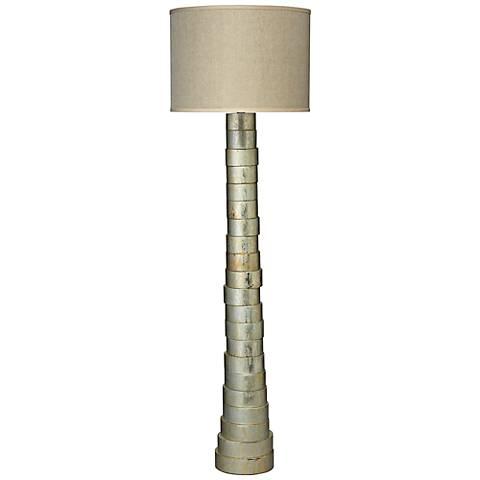 Jamie Young Silver Splash Stacked Floor Lamp