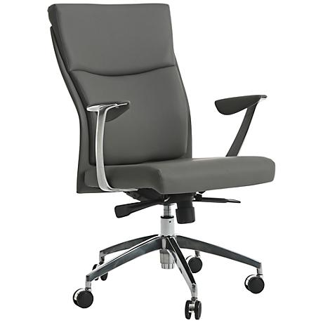New Jersey Faux Leather Gray Adjustable Office Chair