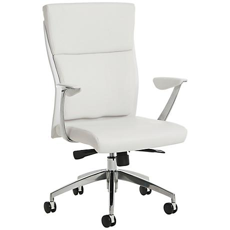 New Jersey Faux Leather Ivory Adjustable Office Chair