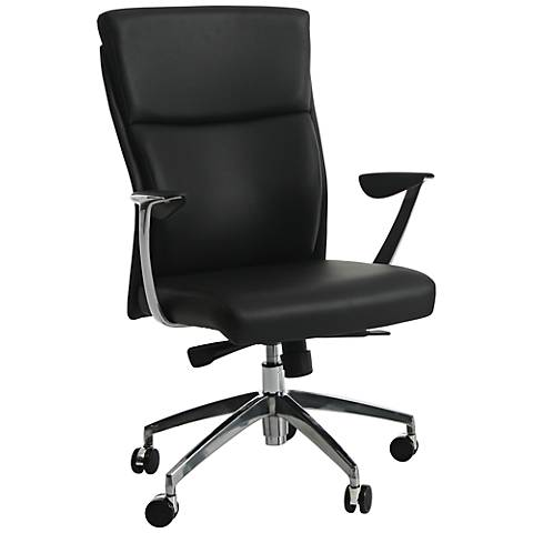 New Jersey Faux Leather Black Adjustable Office Chair