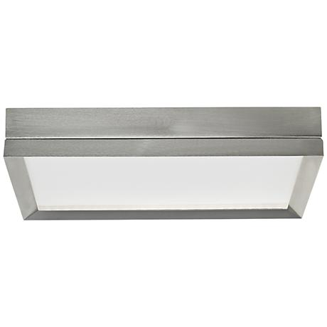 """Finch 12"""" Square Satin Nickel LED Ceiling Light"""