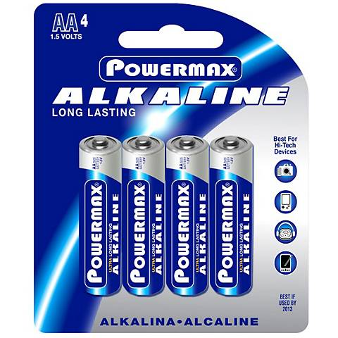 Powermax AA 4-Pack Alkaline Batteries