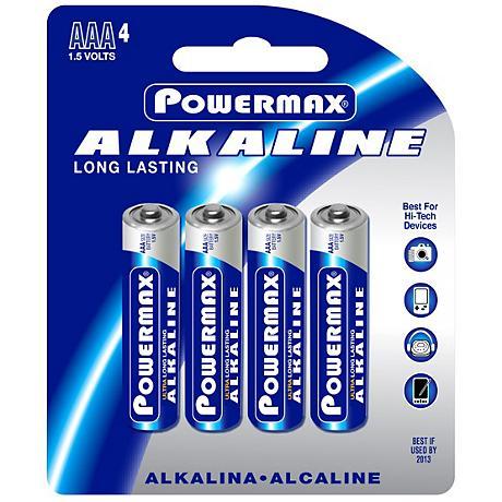 Powermax AAA 4-Pack Alkaline Batteries