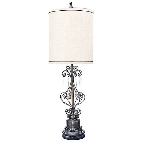 Crestview Collection Destiny Open Design Tall Table Lamp