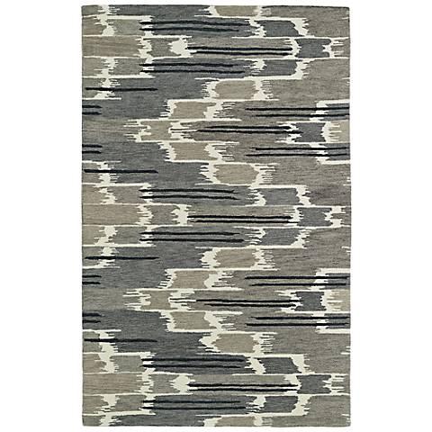 Kaleen Global Inspirations GLB02-7 Gray Wool Area Rug