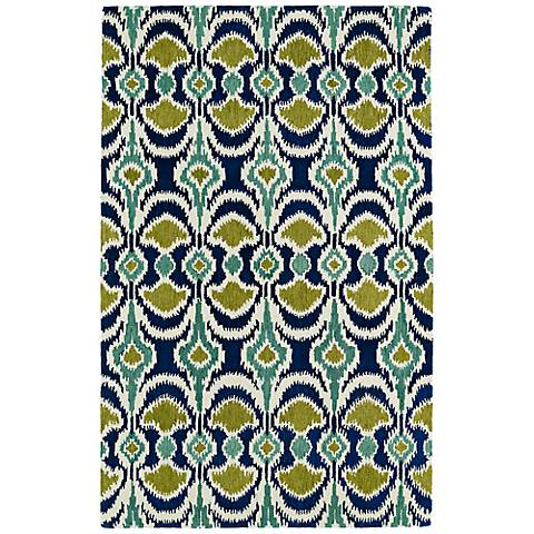 Kaleen Global Inspirations GLB03-17 Blue and Green Rug