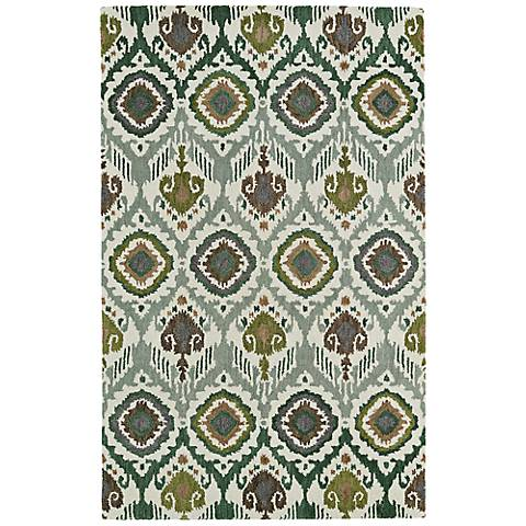 Kaleen Global Inspirations GLB04-50 Dark Green Area Rug