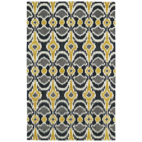 Kaleen Global Inspirations GLB03-28 Yellow and Gray Rug