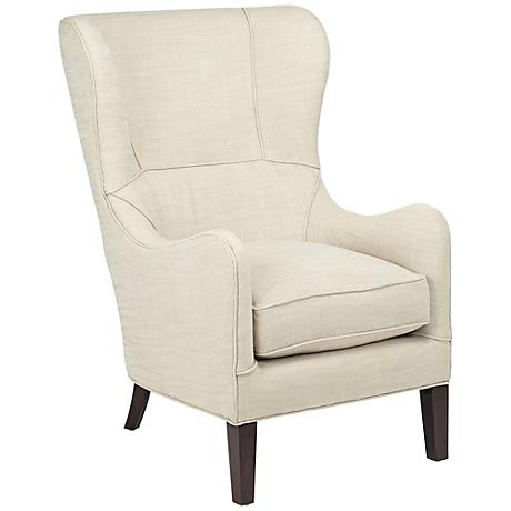 Gia Belgian Linen Wingback Accent Chair