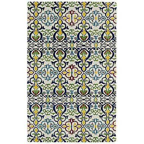 Kaleen Global Inspirations GLB05-86 Yellow and Blue Rug