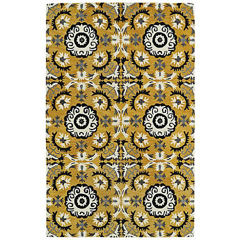 Kaleen Global Inspirations GLB06-28 Yellow and Black Rug
