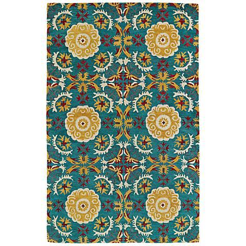 Kaleen Global Inspirations GLB06-78 Turquoise Wool Rug
