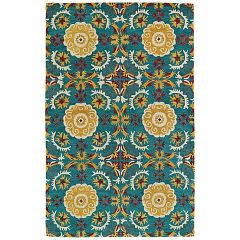 Kaleen Global Inspirations GLB06-78 Turquoise Wool Rug