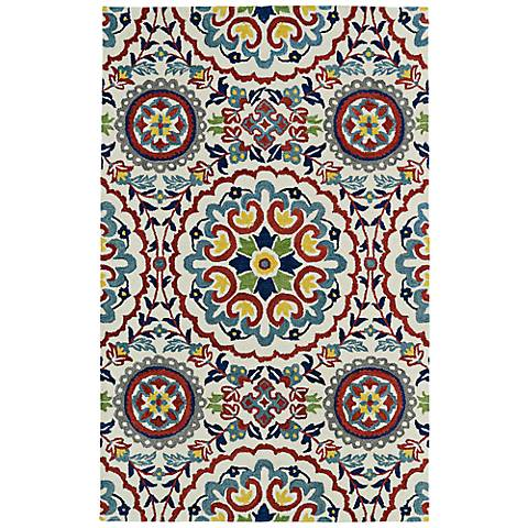 Kaleen Global Inspirations GLB08-01 Gray and Red Area Rug