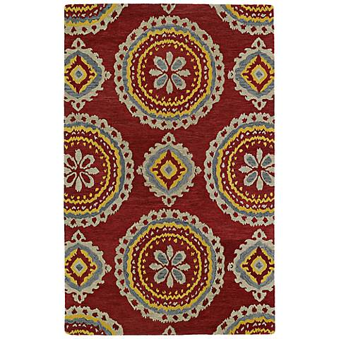 Kaleen Global Inspirations GLB09-25Red Dark Red Wool Rug