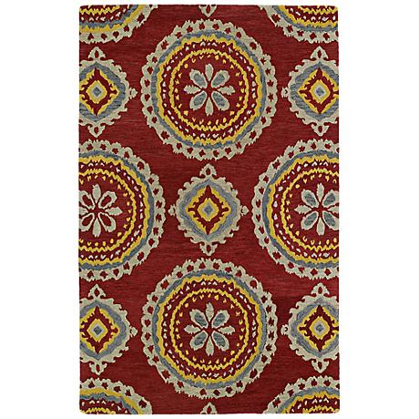 Kaleen Global Inspirations GLB09-25Red Dark Red Wool Rug