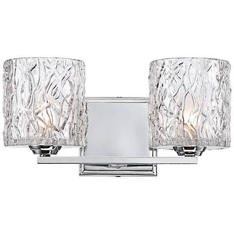 "Lorenzo Chrome 6 1/4"" High 2-Light Molten Glass Wall Sconce"